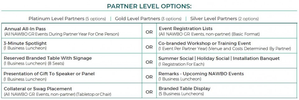 Corporate Partners Programs Options