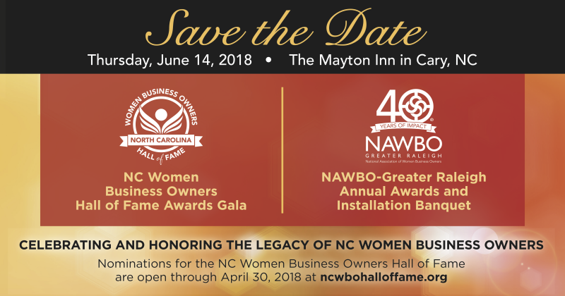 NC Women Business Owners Awards Gala